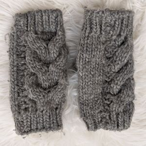 Lands End Knit Fingerless Gloves